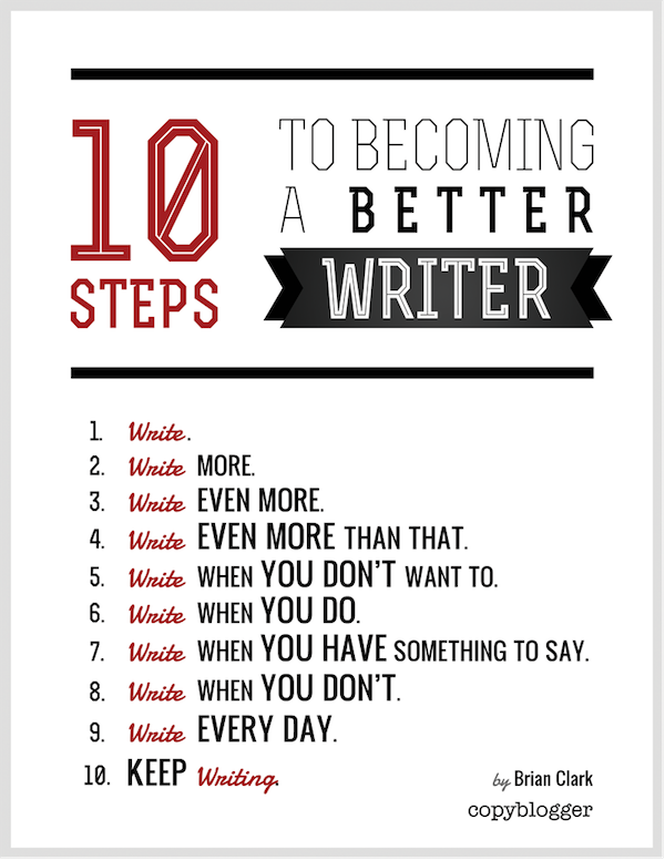 steps to becoming a better writer work on your game dre  10 steps to becoming a better writer