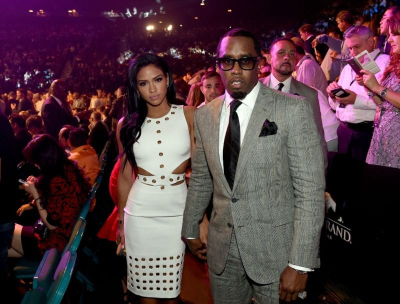 "LAS VEGAS, NV - MAY 02:  Model Cassie Ventura (L) and Sean ""Puff Daddy"" Combs pose ringside at ""Mayweather VS Pacquiao"" presented by SHOWTIME PPV And HBO PPV at MGM Grand Garden Arena on May 2, 2015 in Las Vegas, Nevada.  (Photo by Ethan Miller/Getty Images for SHOWTIME)"